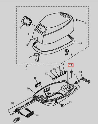 Держатель для лодочного мотора T9.8 Sea-PRO (1-12)