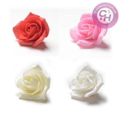 Роза из фоамирана средняя 5-6 см, 1 шт.