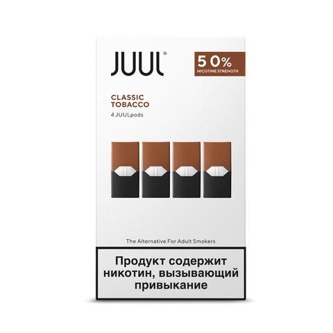 Картриджи JUUL Табак 5% 4 шт