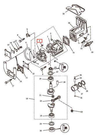 Штифт для лодочного мотора T2,5 SEA-PRO (2-4)