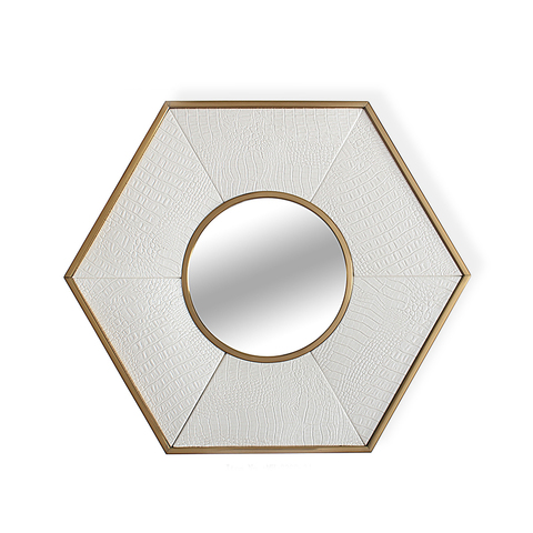 Зеркало дизайнерское Rhombus by Light Room (белый)