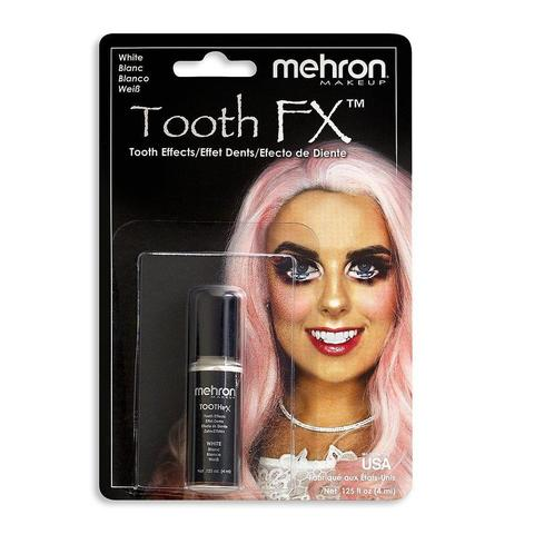 MEHRON Краска для зубов Tooth FX with Brush for Special Effects - White (Белоснежная), 4 мл