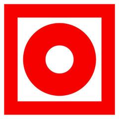 F10 знак пожарной безопасности «Кнопка включения установок систем пожарной автоматики»