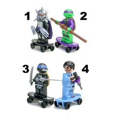 Minifigures Mutant Ninjago Ninja Turtles 2 Blocks Building