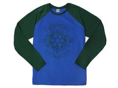 30198-12 футболка муж. с длинным рук. голубая