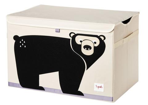 Сундук для хранения игрушек 3 Sprouts Медведь (чёрный)