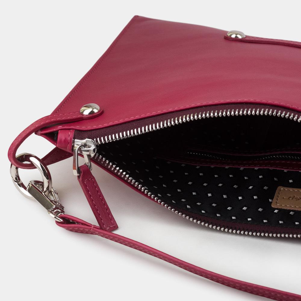 Женская сумка Tereze Easy из натуральной кожи теленка, цвета малины