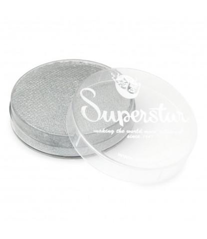 056 Аквагрим Superstar 16 гр перламутровый серебряный