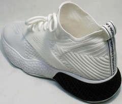 Белые кроссовки в сетку женские El Passo KY-5 White