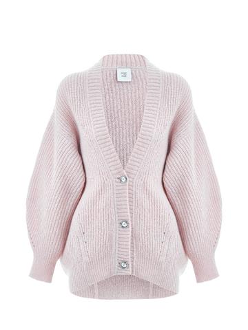 Женский жакет светло-розового цвета из мохера - фото 2