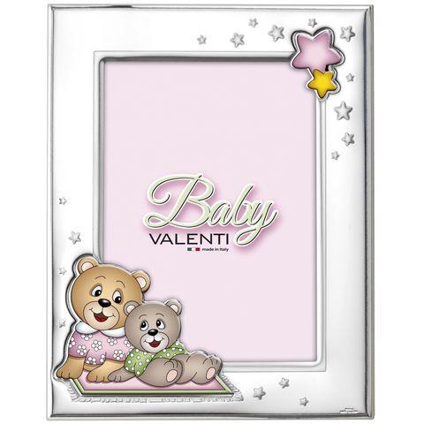 Серебряная рамка для фотографий Медвежья семейка 18х13см