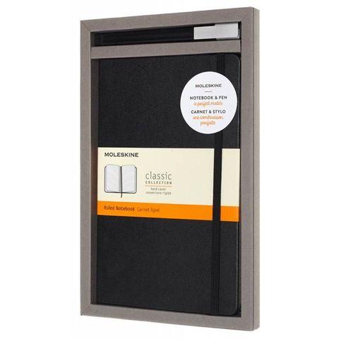 Набор Moleskine BUNDLE VERTICAL блокнот/ручка блокн.:Classic Large линейка черный