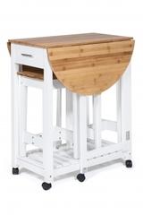 Стол кухонный  с 2-мя табуретами (mod. JWPE-120807) — натуральный