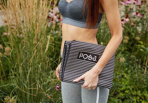 Коврик для йоги Asana Travel Strings 183*61*0,1 см из микрофибры и каучука
