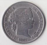 K0141, 1865, Испания, 40 сентимов сантимов, Ag-810, 5,1 гр.