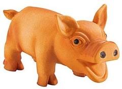 Игрушка для собак «Свинка» маленькая 10 см латекс, Hunter Smart