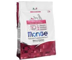 Monge Natural Superpremium Mini puppy & junior полноценный корм для щенков мелких пород до 10 кг с курицей и рисом 800 гр