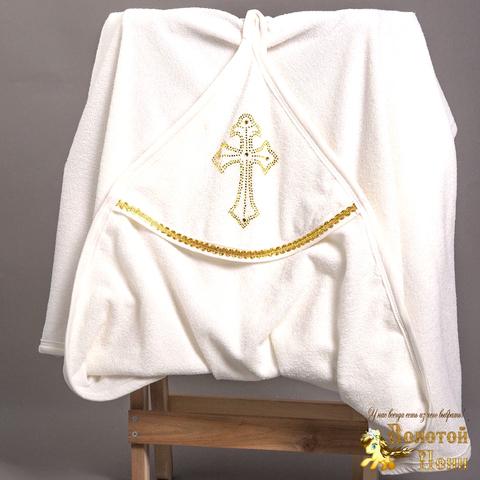 Полотенце-уголок для крещения (100х90) 200528-NV930