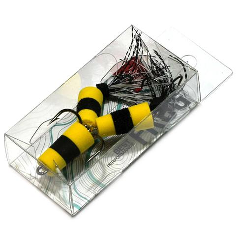 Приманка джиг. FROG, 7 см, цвет желт./черн./желт., арт. FB3001554