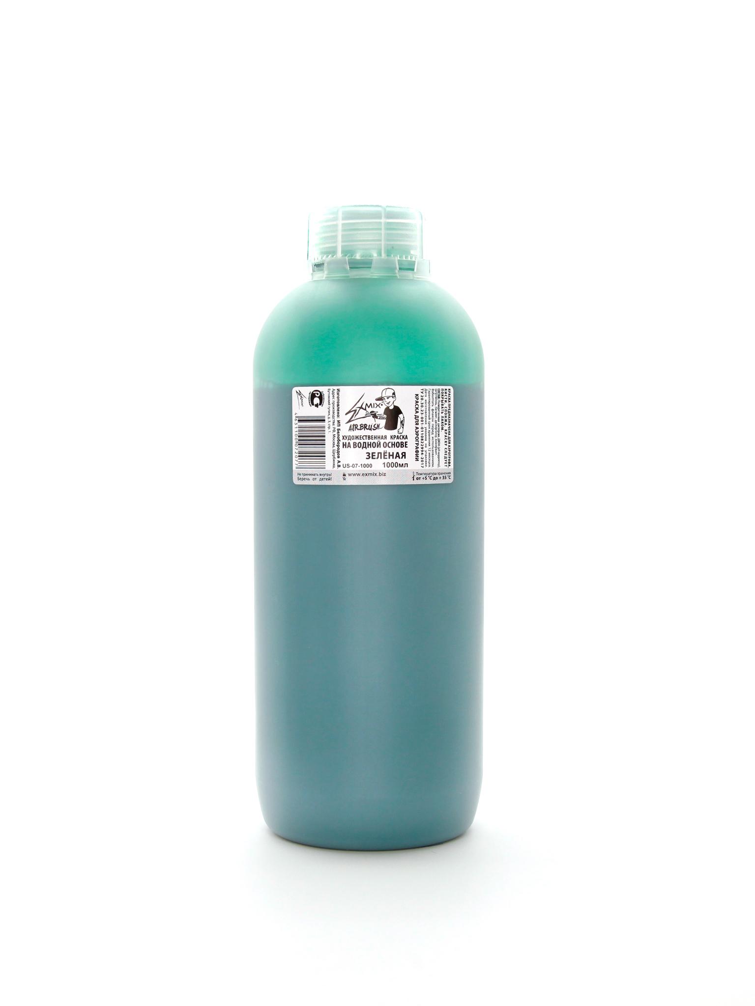 Exmix Краска укрывистая Exmix 07 Зелёный 1000 мл US-07-1000.jpg