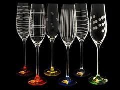 Набор разноцветных бокалов для шампанского «Celebration»