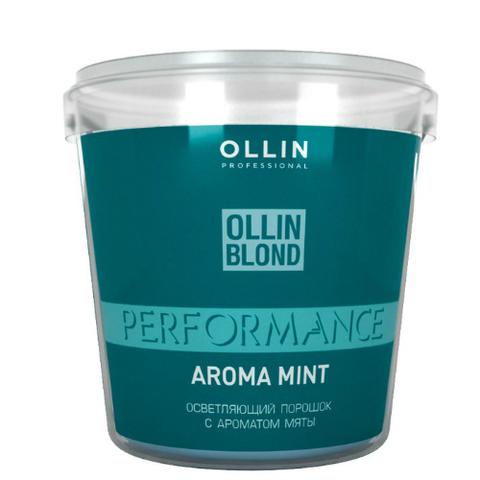 Осветляющий порошок с ароматом мяты белого цвета OLLIN BLOND POWDER 500 г.