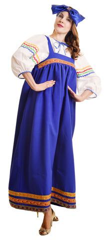 Костюм Барыня в синем сарафане 1