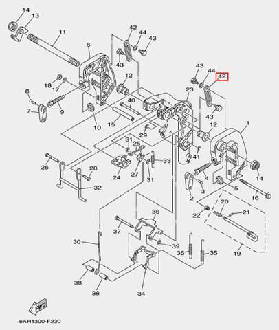 Пластина стопорная для лодочного мотора F20 Sea-PRO (19-42)