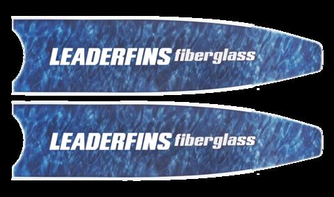 Лопасти Leaderfins Fiber Glass синий камуфляж
