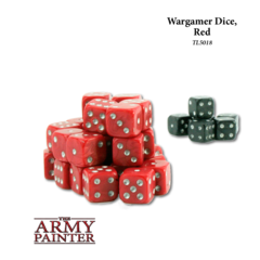 Wargaming Dice: Red with Black