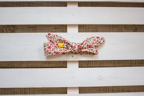 Повязка на голову (солоха) белая в мелкий розовый цветок