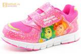 Светящиеся кроссовки для девочек Фиксики на липучках, цвет фуксия, мигает картинка сбоку. Изображение 1 из 15.