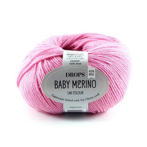 Пряжа Drops Baby Merino 07 розовый