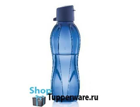 бутылка эко 500мл с клапаном в темно синем цвете 500x500