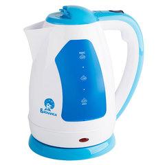 Чайник электрический 2,0л ВАСИЛИСА Т2-1500 белый с серо-голубым