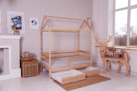 Кроватка-домик  Incanto  «Dream Home» без ящиков, цвет натуральный