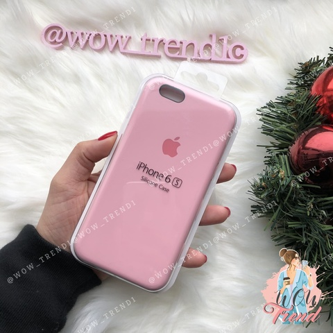Чехол iPhone 6/6s Silicone Case /light pink/ розовый original quality