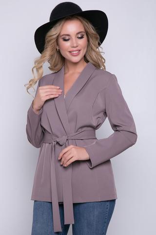 """<p>Если Вы хотите выглядеть ярко и стильно, этот пиджак точно для Вас. Свободный крой, рукав длинный, ворот """"шалка"""". Запах полочек на пояс. Без подклада. (Длины: 44-46=68см; 48-50=69см; 52=70см)&nbsp;</p>"""