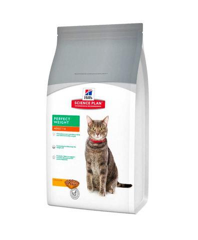 Hill's сухой корм для кошек идеальный вес 1,5кг