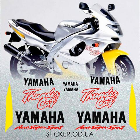 Набор виниловых наклеек на мотоцикл YAMAHA YZF 600R 1996,THUNDERCAT
