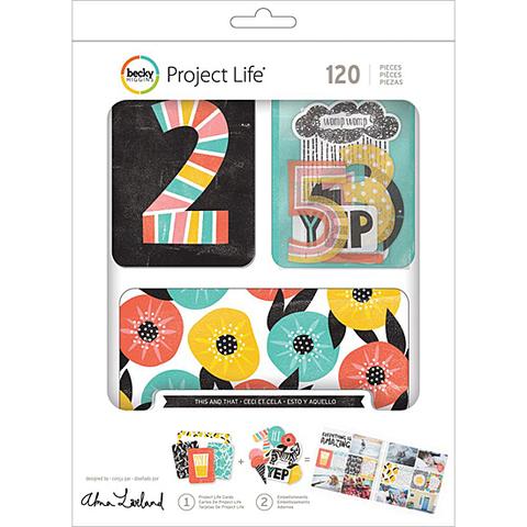 Kit набор карточек и украшений для Project Life -