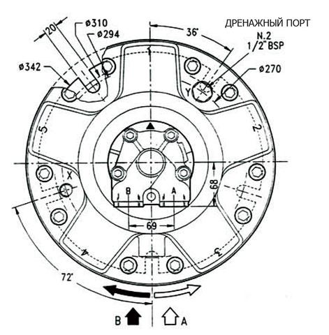Гидромотор INM3-500