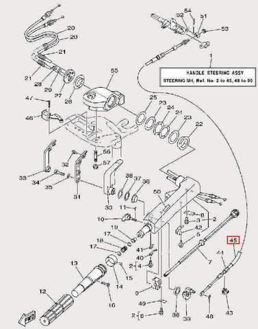 Оплетка троса φ12×φ16×300 для лодочного мотора F9,9 Sea-PRO (17-45)