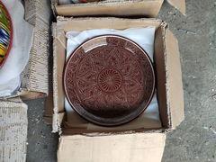 Риштанский Ляган 42 см. плоский коричневый