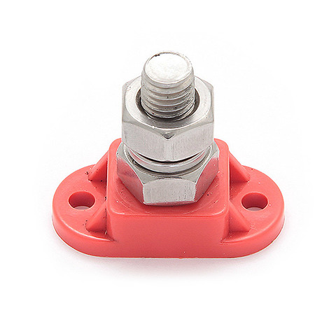 Клемма-штифт одинарная 10 мм, красная