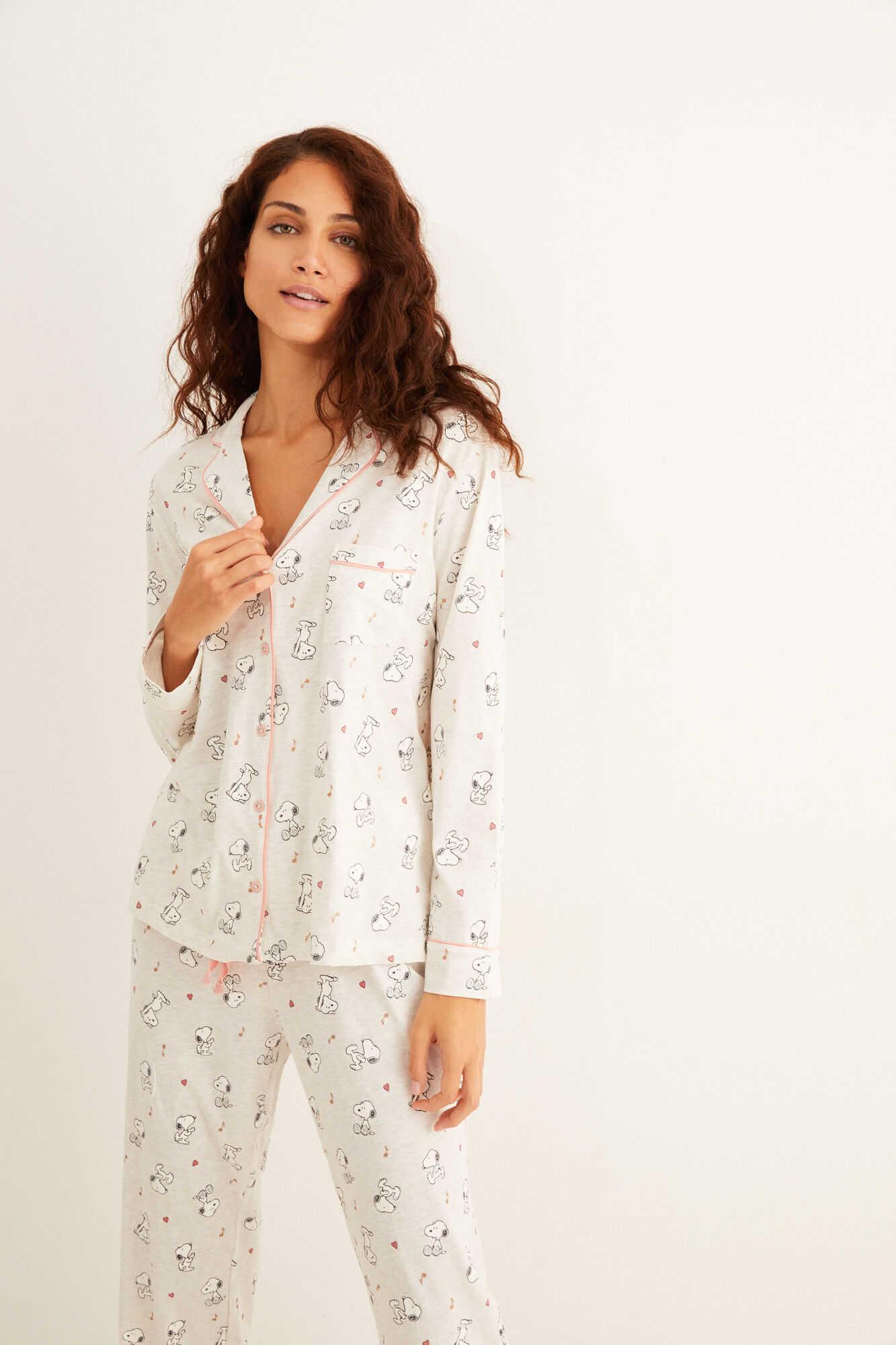 Длинная пижама рубашечного типа с принтом «Снупи»