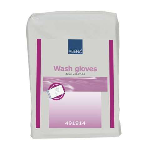 Рукавица Wash gloves Airlaid/PE 23х16 см (50 шт.)
