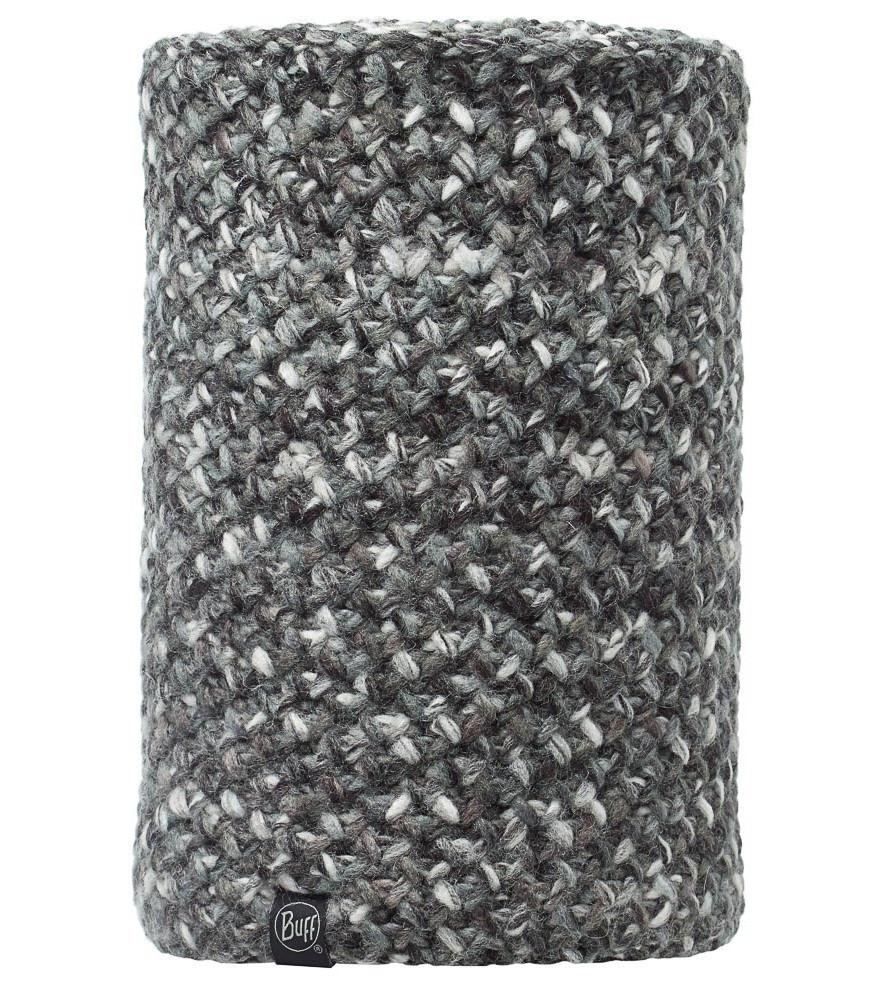 Вязаные шарфы Вязаный шарф-труба с флисовой подкладкой Buff Margo Grey 111051.jpg