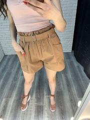 шорты с завышенной талией с ремнем nadya
