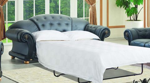 Диван-кровать ESF Versace 3-х местный черный